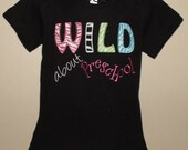 Personalized Wild about Preschool Back to school Shirt boys girls boutique short sleeve long sleeve custom embroidered sew cute creations