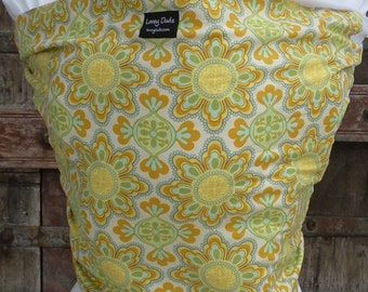 Super Lightweight-ORGANIC BAMBOO Baby Wrap Sling Carrier -Vintage Paisley On White-DvD Included