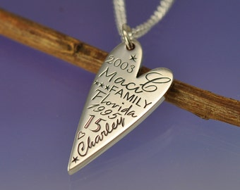 Personalised. The Memory Pendant. Silver.
