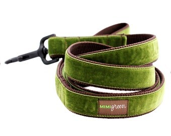 Velvet Dog Leash - 4' or 5' - 14 colors to choose from