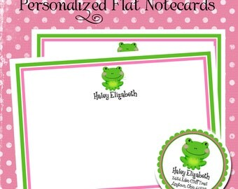 Frog Stationery, frog Note cards, Greeting, Labels, Stickers, Address, Seal, Shower, Birthday, Set of 12