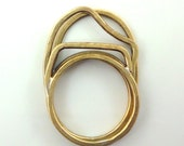3 Stacking Rings: Minimal, architectural, elegant every day rings in bronze or Sterling.