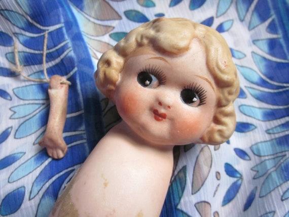 Antique Bisque Doll - Kewpie Style