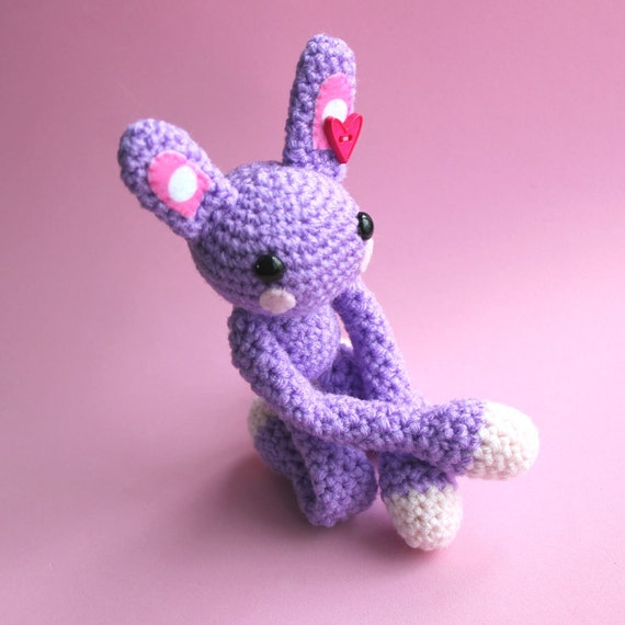 Heather the Amigurumi Purple Bunny Rabbit