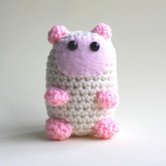 Cotton the Amigurumi Hamster Miniature Collectable