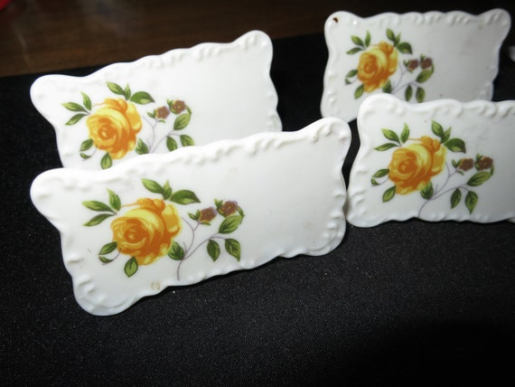 Vintage Porcelain Dinner Place Cards