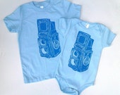 Rolieflex Camera Baby Bodysuit or Childrens T Shirt Twin Lens