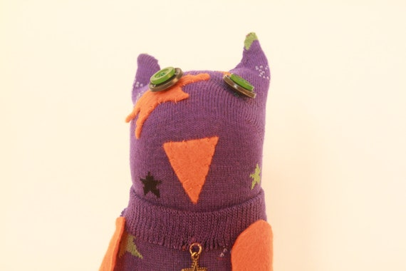 Lucky Star - sock owl and pencil holder