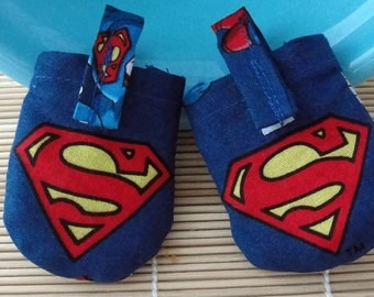 Superman Hush Puppy Dog Tag Covers