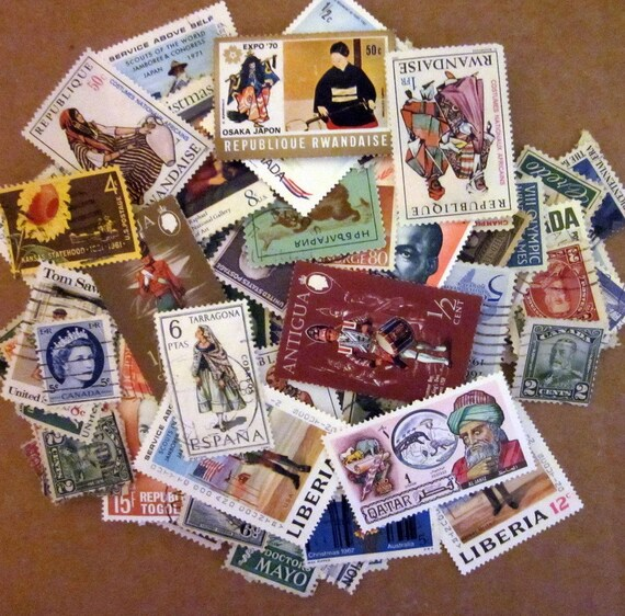 Postage Stamp Assortment - Supplies - 100 Plus