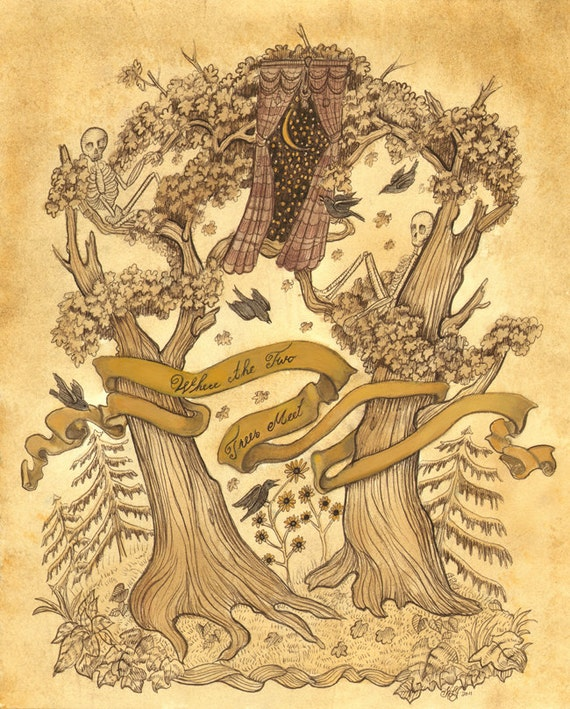 Where the Two Trees Meet - 11 x 14 Print