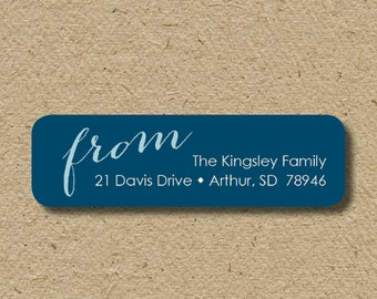 Personalized return address labels, self-adhesive return address stickers, return address labels in ANY color