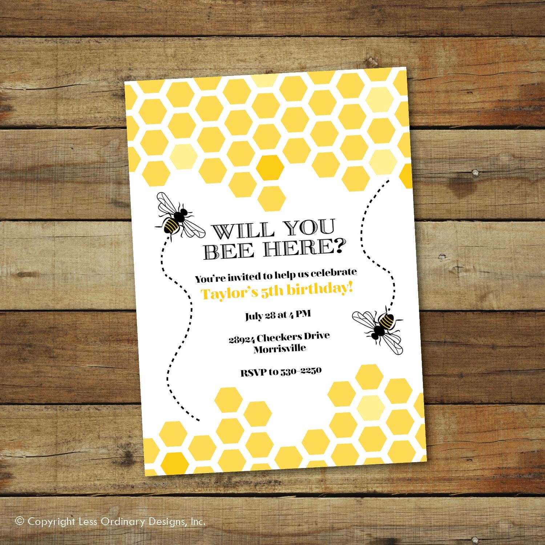 Bumble Bee Invitation was luxury invitations design