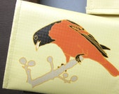 Oriole Change Purse / Pouch / Wallet Upcycled Bird Lover Gift