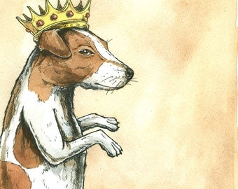Jack Russell King (an original hand painted king)