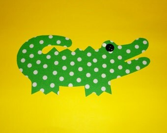 Fabric Applique TEMPLATE ONLY Big Alligator....2 Sizes