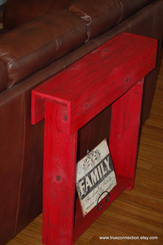 Fall Red Entryway Table Console Table Entry Table Skinny