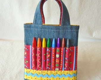 Crayon Bag Art Tote Activity Clearance ARTOTE MINI in Bird in the Hand