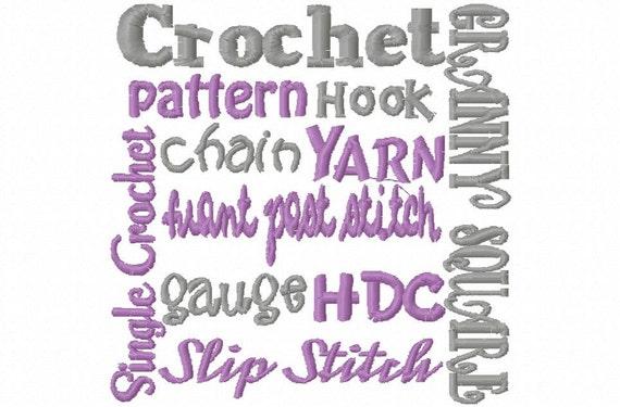 Crochet Block Embroidery Machine Design Patterns 2 Sizes Digital Download