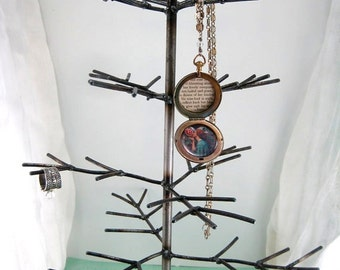 White Pine. Handwelded recycled steel tree for jewelry or decoration, Made to order