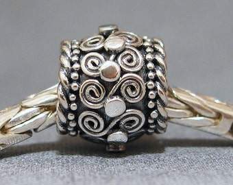 Sterling Silver Big Hole Bead No. 16 Spacer European Charm