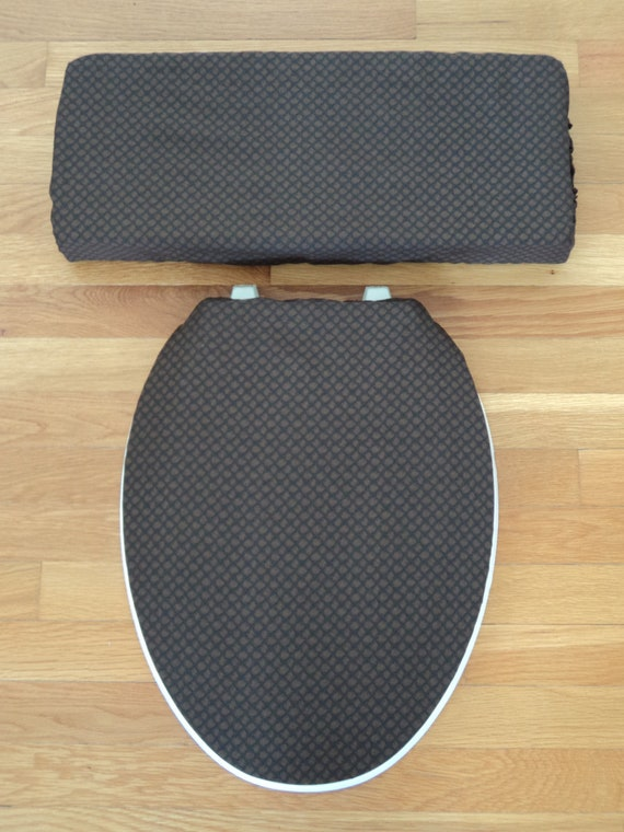 Chocolate Brown Toilet Seat Cover Set By LoveVanillaRose On Etsy