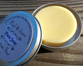 Plain June All Natural Unscented Solid Lotion Bar