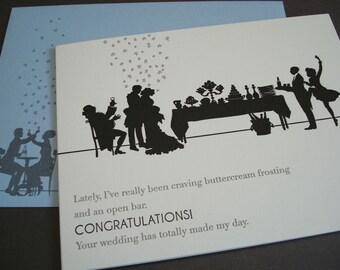 Open Bar - letterpress wedding greeting