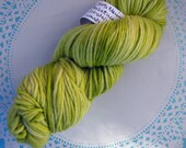 Knitcircus Worsted Merino Yarn in color Butter Lettuce