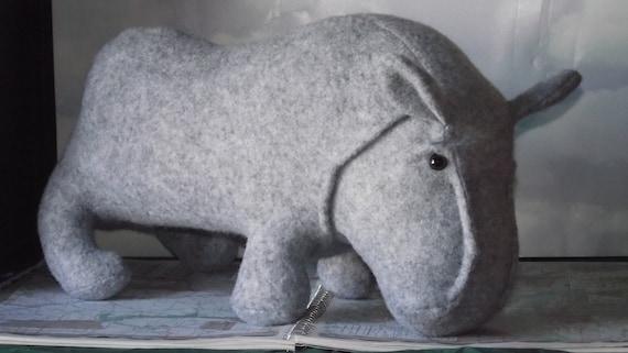 "Hippo CLEARANCE HIPPOPOTAMUS Hippopotomus Clearance Stuffed Animal Pattern to Sew Clearance on Newsprint 18"" x 24"""