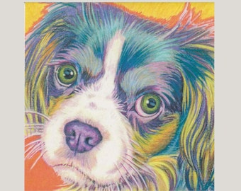 Funky Blue Dog Print