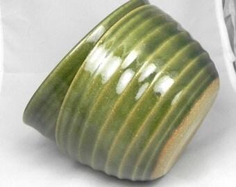 One Ceramic Green Bowl/ Stoneware Dinner Set Available