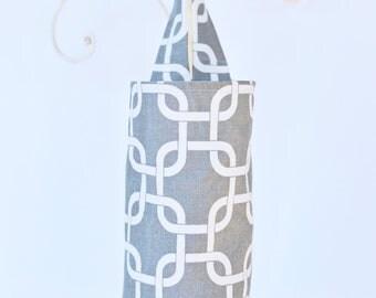 Plastic Bag Dispenser in Dark Grey Lattice Doggie Do Bag Holder