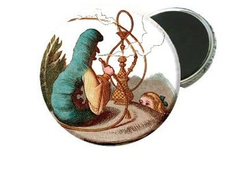 Magnet - Classic Alice In Wonderland Caterpillar and Alice Book Image