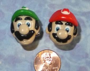 CUFFLINKS Super Mario and Luigi (or 2 Mario or 2 Luigi)