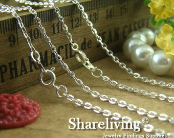 4pcs Silver Plated Finished Cross Chains LN913A