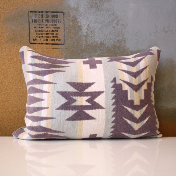 """Vintage Southwest Fabric Handmade Pillow - 12"""" x 16"""" Cover with insert - One of a Kind"""