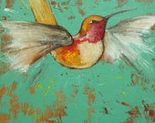 Bird 101 10x10 inch Print from oil painting by Roz
