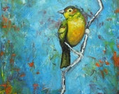 Bird 81 10x10 inch Print from oil painting by Roz