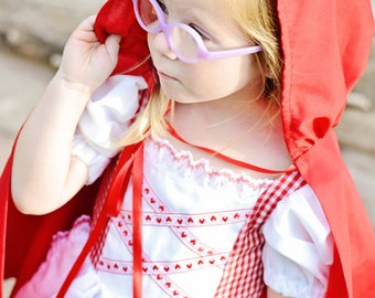 Cute Little Red Riding Hood Cape   (CAPE ONLY)