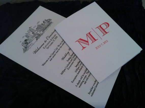 Wedding Weekend Welcome Booklet/Letter - DESIGN ONLY or printing available