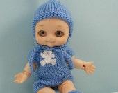 Soom Nappy Choo BJD baby doll blue romper play set NC14
