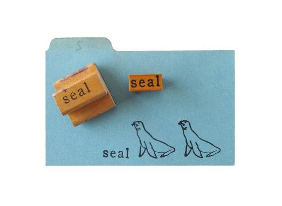 Vintage SEAL Rubber Stamps - Set of 2