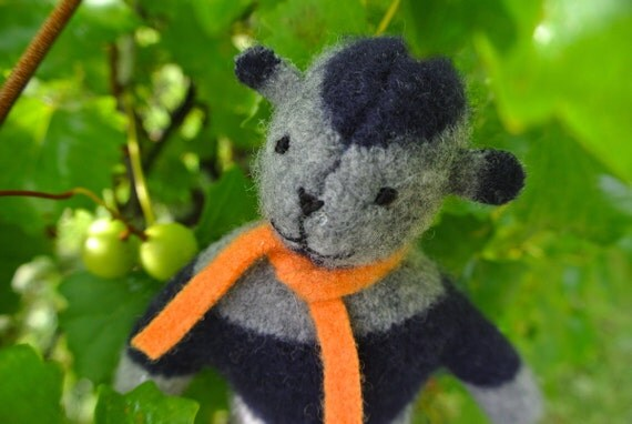 Pogo - Cooper, hand-stitched wool bear, eco friendly