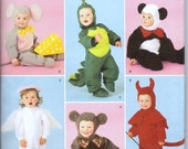 Costume Sewing Pattern Simplicity 2506 Toddlers' Mouse Dinosaur Bear Devil Angel Uncut Complete