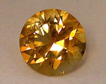 Vintage CITRINE ORANGE Loose Gemstone Faceted Round Fine 8mm 1.79 cts fg133