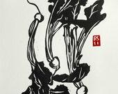 Japanese Turnips Hand-printed Block Print