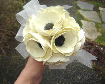 Poppies Wedding Bouquet Bridal Bridesmaid Bouquet Wedding Flowers Made to Order