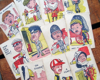 Vintage British Characters Snap Cards - Set of 11