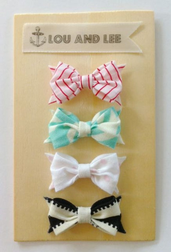 Baby bows-Itty bitty newborn fabric bow collection